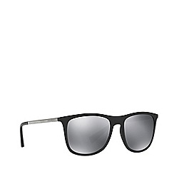 Dolce & Gabbana - Black rubber DG6106 square sunglasses