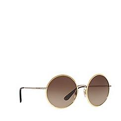 Dolce & Gabbana - Gold DG2155 round sunglasses