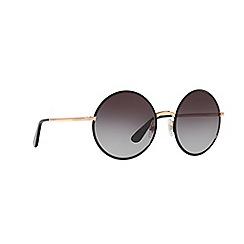 Dolce & Gabbana - Matte black DG2155 round sunglasses
