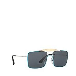 Prada - Silver square frame sunglasses