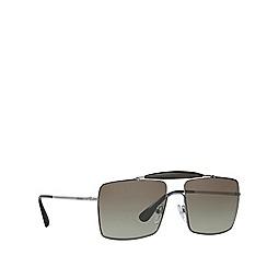 Prada - Gunmetal square frame sunglasses