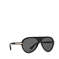 Versace - Black pilot frame grey lenses sunglasses