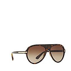 Versace - Havana pilot frame brown sunglasses
