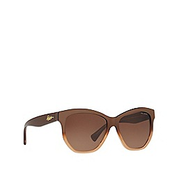Ralph - Brown irregular frame female sunglasses