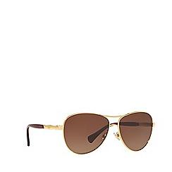 Ralph - Gold pilot frame female sunglasses