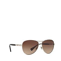Ralph - Silver pilot frame sunglasses