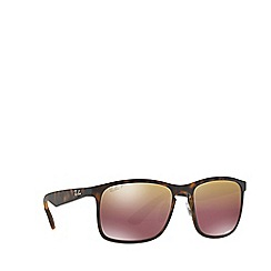 Ray-Ban - Matte havana RB4264 square sunglasses