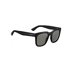Gucci - Shiny black GG1133 rectangle sunglasses