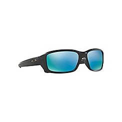 Oakley - Matte black rectangle 'Straightlink' sunglasses