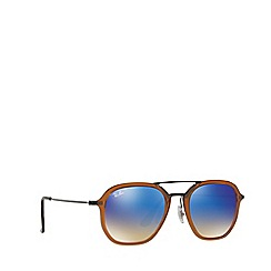 Ray-Ban - Shiny transparent brown RB4273 square sunglasses
