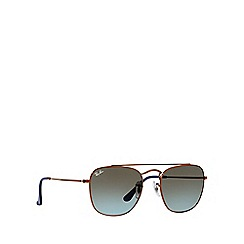 Ray-Ban - Bronze RB3557 square sunglasses