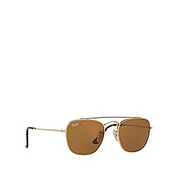 Ray-Ban - Gold square RB3557  sunglasses