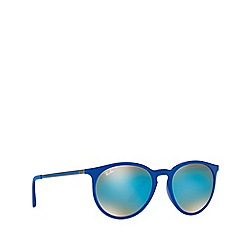 Ray-Ban - Shiny blue RB4274 round sunglasses