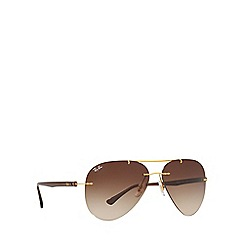 Ray-Ban - Gold RB8058 pilot sunglasses