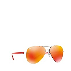Ray-Ban - Shiny grey RB8058 pilot sunglasses