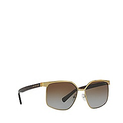 Michael Kors - Gold irregular 'August' sunglasses