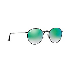 Ray-Ban - Shiny black phantos 'Round' sunglasses