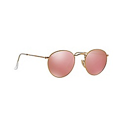 Ray-Ban - Gold phantos 'Round' sunglasses