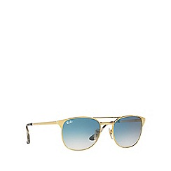 Ray-Ban - Gold 'Signet' RB3429M square sunglasses