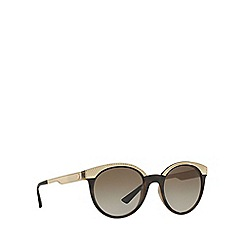 Versace - Brown VE4330 round sunglasses
