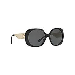 Versace - Black VE4331 round sunglasses