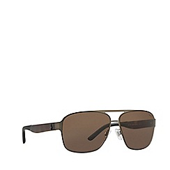 Polo Ralph Lauren - Matte brown square frame sunglasses