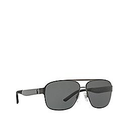Polo Ralph Lauren - Matte gunmetal square frame sunglasses