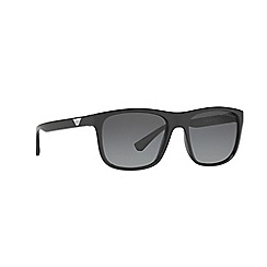 Emporio Armani - Black square frame grey lense sunglasses