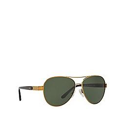 Ralph Lauren - Bronze copper RL7054Q pilot sunglasses