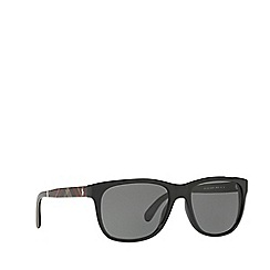 Polo Ralph Lauren - Shiny black square frame sunglasses