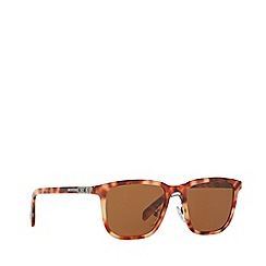 Prada - Orange rectangle frame male sunglasses
