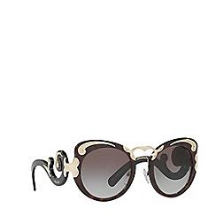 Prada - Havana round frame grey lense sunglasses