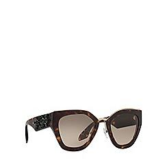 Prada - Havana irregular frame brown lense sunglasses