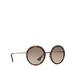 Prada - Havana round frame sunglasses