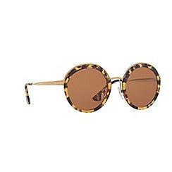 Prada - Havana PR50TS round sunglasses