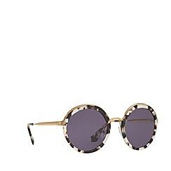 Prada - White round frame sunglasses