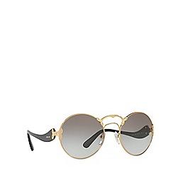 Prada - Gold round frame grey lense sunglasses