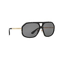 Dolce & Gabbana - Black pilot frame grey lense sunglasses