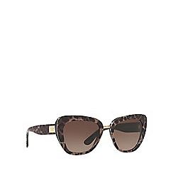Dolce & Gabbana - Multi butterfly frame brown lense sunglasses