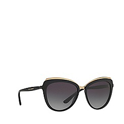 Dolce & Gabbana - Black cat eye frame female sunglasses