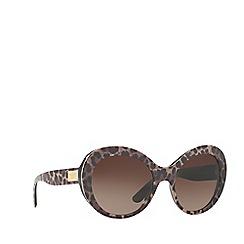 Dolce & Gabbana - Leoprint DG4295 oval sunglasses