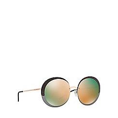 Emporio Armani - Gold round frame mirror lense sunglasses