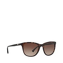 Emporio Armani - Havana square frame brown lense sunglasses