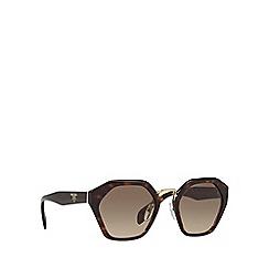 Prada - Havana PR04TS irregular sunglasses