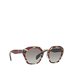 Prada - Bordeaux PR04TS irregular sunglasses