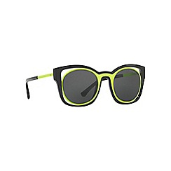 Emporio Armani - Yellow EA4091 square sunglasses