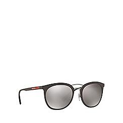 Prada Linea Rossa - Brown phantos frame silver lense sunglasses
