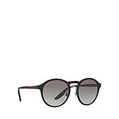 Prada Linea Rossa - Black phantos frame grey lense sunglasses