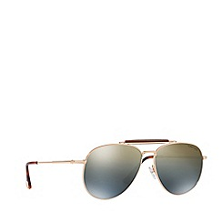 Tom Ford - Pink gold FT0536 pilot sunglasses