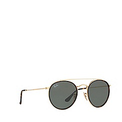 Ray-Ban - Gold round RB3647N sunglasses